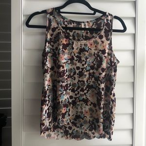 Multi colored scalloped tank from Nordstrom